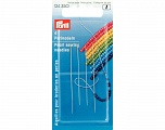 No: 10 + 13 extrafine pearl sewing / beading needles. 4 pieces Brand PRYM, acs-851