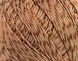 Fiber Content 70% Mercerised Cotton, 30% Viscose, Brand KUKA, Brown, Yarn Thickness 2 Fine  Sport, Baby, fnt2-16801