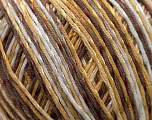 Fiber Content 70% Mercerised Cotton, 30% Viscose, White, Brand KUKA, Camel, Brown, Yarn Thickness 2 Fine  Sport, Baby, fnt2-16812
