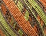 Fiber Content 70% Mercerised Cotton, 30% Viscose, Orange, Brand KUKA, Grey, Brown, Yarn Thickness 2 Fine  Sport, Baby, fnt2-16818