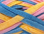 Fiber Content 100% Acrylic, Yellow, Pink, Brand ICE, Blue, Yarn Thickness 6 SuperBulky  Bulky, Roving, fnt2-20678