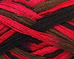 A beautiful new scarf yarn. One ball is enough to make a beautiful scarf. Knitting instructions are included! Fiber Content 100% Acrylic, Red, Brand ICE, Brown, Black, Yarn Thickness 6 SuperBulky  Bulky, Roving, fnt2-21354