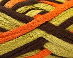 Fiber Content 100% Acrylic, Orange, Brand ICE, Green, Brown, Yarn Thickness 6 SuperBulky  Bulky, Roving, fnt2-21409