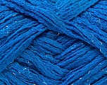 A beautiful new scarf yarn. One ball is enough to make a beautiful scarf. Knitting instructions are included! Fiber Content 95% Acrylic, 5% Lurex, Brand ICE, Blue, Yarn Thickness 6 SuperBulky  Bulky, Roving, fnt2-21929