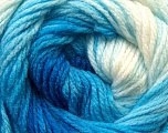 Fiber Content 100% Acrylic, White, Brand ICE, Blue Shades, Yarn Thickness 3 Light  DK, Light, Worsted, fnt2-22017