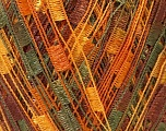 Trellis 20 stitches and 28 rows for 10 cm x 10 cm (4&amp x 4&amp) Fiber Content 100% Polyester, Yellow, Orange, Brand ICE, Green, Brown, Yarn Thickness 5 Bulky  Chunky, Craft, Rug, fnt2-22109