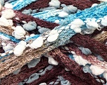 Fiber Content 85% Acrylic, 15% Nylon, Turquoise, Brand ICE, Camel, Brown, Yarn Thickness 6 SuperBulky  Bulky, Roving, fnt2-22268