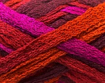 A beautiful new scarf yarn. One ball is enough to make a beautiful scarf. Knitting instructions are included! Fiber Content 100% Acrylic, Purple, Maroon, Brand ICE, Fuchsia, Copper, Yarn Thickness 6 SuperBulky  Bulky, Roving, fnt2-22585
