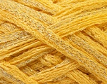 A beautiful new scarf yarn. One ball is enough to make a beautiful scarf. Knitting instructions are included! Fiber Content 95% Acrylic, 5% Lurex, Yellow, Silver, Brand ICE, Yarn Thickness 6 SuperBulky  Bulky, Roving, fnt2-22696