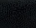Fiber Content 100% Mercerised Cotton, Brand ICE, Black, Yarn Thickness 2 Fine  Sport, Baby, fnt2-23321