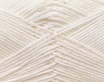 Fiber Content 100% Mercerised Cotton, White, Brand ICE, Yarn Thickness 2 Fine  Sport, Baby, fnt2-23322