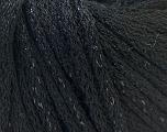 Lurex  Fiber Content 100% Acrylic, Brand ICE, Black, Yarn Thickness 6 SuperBulky  Bulky, Roving, fnt2-24208