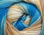 Fiber Content 100% Premium Acrylic, White, Brand ICE, Camel, Blue Shades, Yarn Thickness 3 Light  DK, Light, Worsted, fnt2-24560