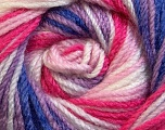 Fiber Content 100% Premium Acrylic, White, Purple, Pink Shades, Brand ICE, Yarn Thickness 3 Light  DK, Light, Worsted, fnt2-24563