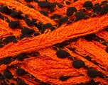 Fiber Content 85% Acrylic, 15% Nylon, Orange, Brand ICE, Black, Yarn Thickness 6 SuperBulky  Bulky, Roving, fnt2-24784