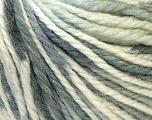 Fiber Content 40% Acrylic, 35% Wool, 25% Alpaca, White, Brand ICE, Grey Shades, Yarn Thickness 5 Bulky  Chunky, Craft, Rug, fnt2-25414