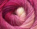 Fiber Content 55% Acrylic, 45% Angora, White, Pink Shades, Lilac, Brand ICE, Yarn Thickness 2 Fine  Sport, Baby, fnt2-26937
