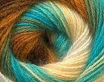 Fiber Content 55% Acrylic, 45% Angora, Turquoise, Brand ICE, Green, Cream, Brown, Yarn Thickness 2 Fine  Sport, Baby, fnt2-26941