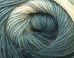 Fiber Content 55% Acrylic, 45% Angora, White, Brand ICE, Grey Shades, Yarn Thickness 2 Fine  Sport, Baby, fnt2-27132