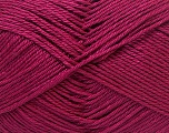 Fiber Content 100% Mercerised Cotton, Brand ICE, Dark Fuchsia, Yarn Thickness 2 Fine  Sport, Baby, fnt2-32545
