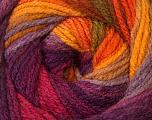 Fiber Content 100% Acrylic, Yellow, Purple, Orange, Lilac, Brand ICE, Yarn Thickness 3 Light  DK, Light, Worsted, fnt2-33054