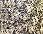 Trellis  Fiber Content 95% Polyester, 5% Lurex, White, Brand ICE, Gold, Black, Yarn Thickness 5 Bulky  Chunky, Craft, Rug, fnt2-33299