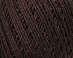 Fiber Content 70% Acrylic, 20% Metallic Lurex, 10% Cotton, Brand ICE, Brown, fnt2-36267