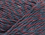 Fiber Content 100% Cotton, Brand ICE, Grey, Burgundy, Blue, Yarn Thickness 4 Medium  Worsted, Afghan, Aran, fnt2-36884