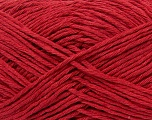 Fiber Content 70% Cotton, 30% Acrylic, Red, Brand ICE, Yarn Thickness 3 Light  DK, Light, Worsted, fnt2-36896