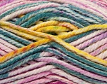 Fiber Content 100% Acrylic, Yellow, White, Turquoise, Pink, Brand ICE, Fuchsia, Yarn Thickness 6 SuperBulky  Bulky, Roving, fnt2-36968