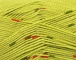 Fiber Content 100% Acrylic, Brand ICE, Green, Yarn Thickness 4 Medium  Worsted, Afghan, Aran, fnt2-37034