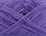 Fiber Content 65% Cotton, 35% Acrylic, Lavender, Brand ICE, Yarn Thickness 2 Fine  Sport, Baby, fnt2-37110