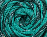 Fiber Content 64% Cotton, 26% Viscose, 10% Polyamide, Brand ICE, Emerald Green, Black, fnt2-37609