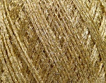 Fiber Content 64% Polyamide, 36% Metallic Lurex, Brand ICE, Gold, fnt2-38242