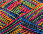 Fiber Content 62% Cotton, 36% Polyamide, 2% Lurex, Rainbow, Brand ICE, fnt2-38268
