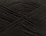 Composition 37% Merino Extrafine, 35% Lin, 28% Coton, Brand ICE, Dark Brown, Yarn Thickness 2 Fine  Sport, Baby, fnt2-38478