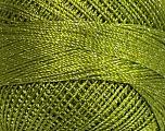 Fiber Content 70% Polyester, 30% Metallic Lurex, Brand ICE, Green, fnt2-38594