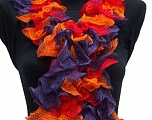 Please be advised that this is not a yarn, but a pre-made item. Fiber Content 100% Acrylic, Red, Purple, Orange, Brand ICE, smp-312