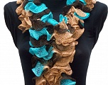 Please be advised that this is not a yarn, but a pre-made item. Fiber Content 100% Acrylic, Turquoise, Brand ICE, Camel, Brown, smp-337