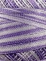 Fiber Content 100% Micro Fiber, Brand YarnArt, White, Lilac, Yarn Thickness 0 Lace  Fingering Crochet Thread, fnt2-17333