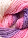 This is another self-striping yarn. The difference of this type is it has both self-patterni and spots between the stripes. Fiber Content 100% Baby Acrylic, White, Pink, Lilac, Brand ICE, Yarn Thickness 2 Fine  Sport, Baby, fnt2-21918