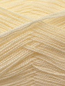 Very thin yarn. It is spinned as two threads. So you will knit as two threads. Fiber Content 100% Acrylic, Brand ICE, Cream, Yarn Thickness 1 SuperFine  Sock, Fingering, Baby, fnt2-22436