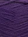 Very thin yarn. It is spinned as two threads. So you will knit as two threads. Fiber Content 100% Acrylic, Purple, Brand ICE, Yarn Thickness 1 SuperFine  Sock, Fingering, Baby, fnt2-22459