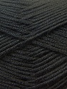 Fiber Content 100% Baby Acrylic, Brand ICE, Black, Yarn Thickness 2 Fine  Sport, Baby, fnt2-22528