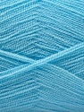 Very thin yarn. It is spinned as two threads. So you will knit as two threads. Fiber Content 100% Acrylic, Light Blue, Brand ICE, Yarn Thickness 1 SuperFine  Sock, Fingering, Baby, fnt2-22666