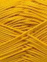 Fiber Content 100% Mercerised Cotton, Yellow, Brand ICE, Yarn Thickness 2 Fine  Sport, Baby, fnt2-23327