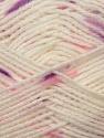 Fiber Content 100% Baby Acrylic, White, Purple, Brand ICE, Fuchsia, Yarn Thickness 2 Fine  Sport, Baby, fnt2-23500