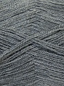Very thin yarn. It is spinned as two threads. So you will knit as two threads. Fiber Content 100% Acrylic, Brand ICE, Grey, Yarn Thickness 1 SuperFine  Sock, Fingering, Baby, fnt2-26709