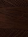 Fiber Content 100% Mercerised Cotton, Brand ICE, Brown, Yarn Thickness 0 Lace  Fingering Crochet Thread, fnt2-27793