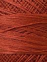Fiber Content 100% Mercerised Cotton, Brand ICE, Copper, Yarn Thickness 0 Lace  Fingering Crochet Thread, fnt2-27794